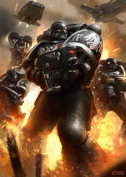 Raven Guard Strike Force by conorburkeart