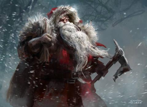 Santa by conorburkeart