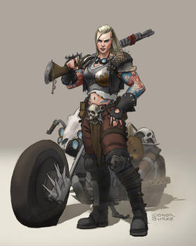 Biker by conorburkeart