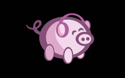 OiNK Piggy Black: 1920x1200 by OiNKmemorial