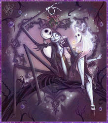 Christmas Spirit With Jack and Sally by lola2323