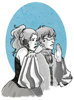 Little squabble by KiraMizuno