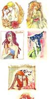 Watercolor Medley I by KiraMizuno