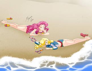 Comission - Derrota en la playa by Shinta-Girl