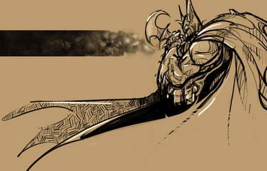 Sketches 156 - Batman by Falcon-