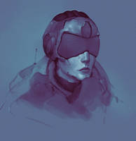 Cyberpunk Girl by VoidJaeger