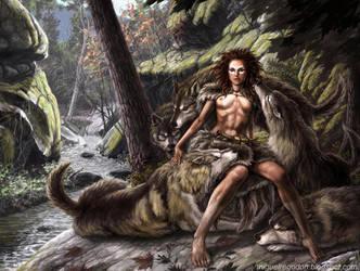 Wolf Girl by MiguelRegodon