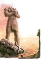 Pharaoh statue by MiguelRegodon