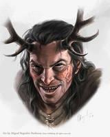 Blooded Stag- Pathfinder by MiguelRegodon