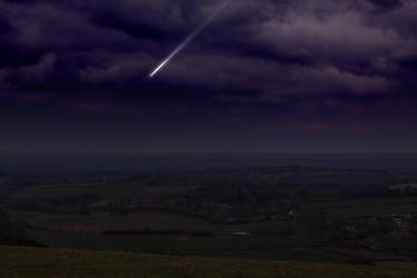 Dorset evening skyline by Loves2dive
