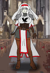 Eclair Ravenfeather - White Mage Variant by OldCrowGaming