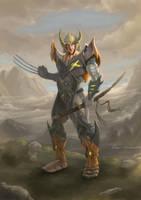 Samurai Wolverine by Hexia01