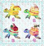 Adoptable Batch #5 [O P E N] - Turtlerons ~ by RusembellAdopt