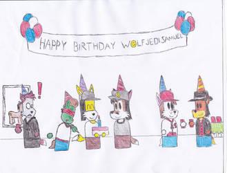 Happy Birthday Wolfjedisamuel by DIMASTHEFOX