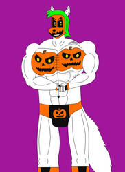 Jack Blaster Sketch 4 Halloween Version 1 by DIMASTHEFOX
