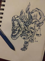 All Seeing [Inktober 2018 Day 19] by Geo-Dragon