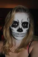 Skull Facepaint by wompler