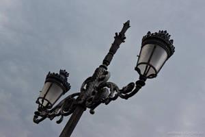 Street lamp in Madrid by naturtrunken