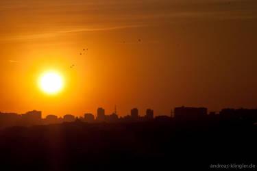 Sunset in Madrid 1 by naturtrunken