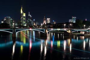 Line of light to Frankfurt by naturtrunken