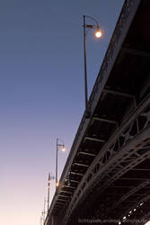 Bridge in the sunset by naturtrunken