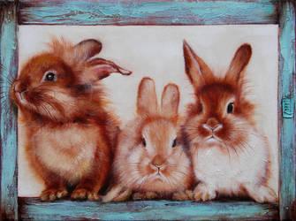 Red bunnies by OlesyaErm