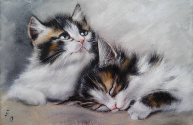 Couple of kittens by OlesyaErm