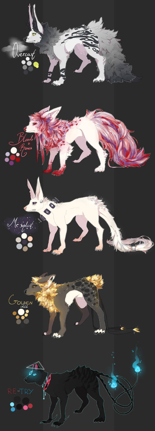 canidae adopts [3/5 OPEN] by Evixi