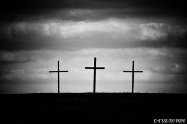 Three Wooden Crosses by ccreasley