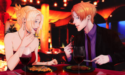 Romantic Dinner by xSaphy