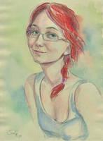 self-portrait by CoalRye