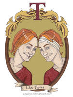 Fred and George Weasley by CoalRye