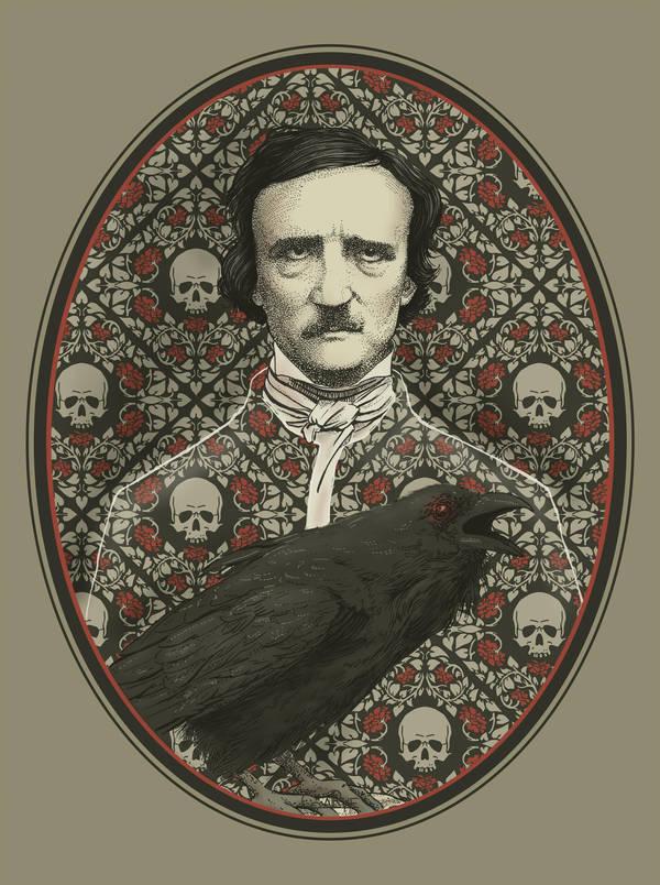 Edgar Allan Poe by CoalRye