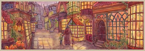 Diagon Alley by CoalRye