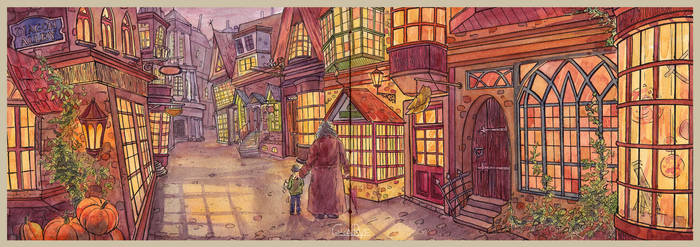 Diagon Alley by CoalRye