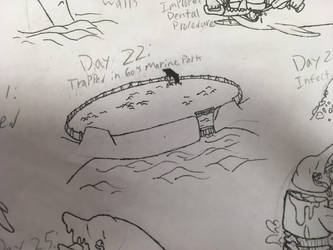 Day 22: Trapped in 60s Marine Park by the-sketchy-orca