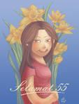 Mom as Daffodil by CrystalPoem