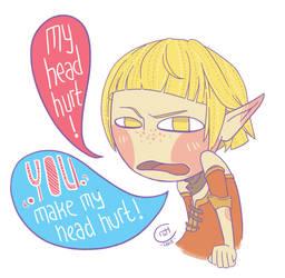 Sera : YOU make my head hurt! by CrystalPoem
