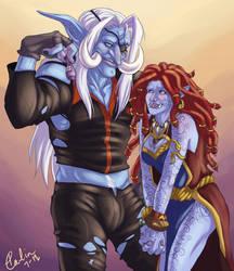 Commission - Nazurak and Malis by TMirai
