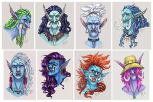 Commission Stream: Troll Portraits by TMirai