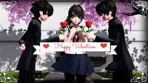 .:Happy Valentines:..:(MMDxYanSim):. by XutsukushiX