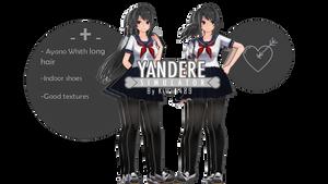 [MMDxYS]~Ayano Aishi V2.0(Long hair)+D'L Update!~ by XutsukushiX