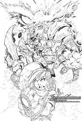 Inks: Battle Chasers by JaneenSatone