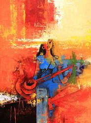 Saraswati painting by vishalmisra