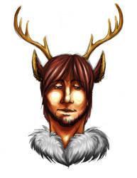 Deer King colored by TeenageDevil