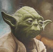 Yoda Portrait Painting by JonMckenzie