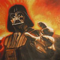 Vader Reaching Painting by JonMckenzie
