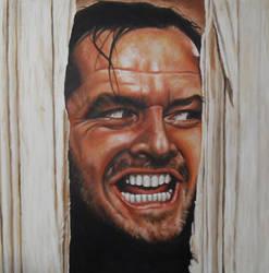 Jack Nicholson Shining by JonMckenzie