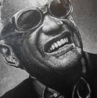Ray Charles Portrait Painting by JonMckenzie