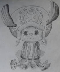Tony Tony Chopper One Piece Drawing with Shading by DrBlagueur